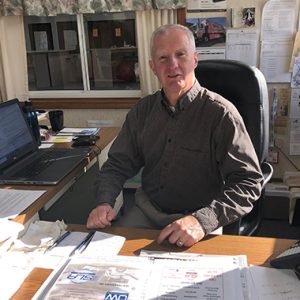 David Groff at his Desk