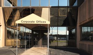 Corporate office sign of SLA Transport