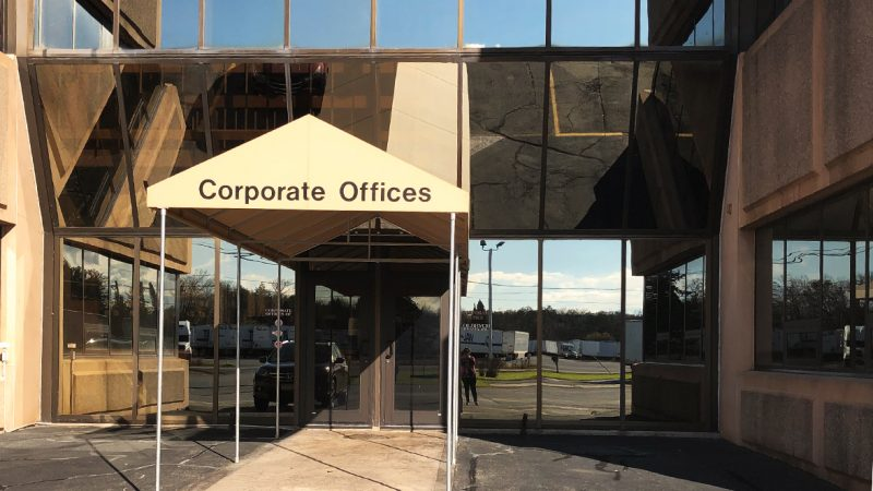 Corporate office sign of SLA Transport