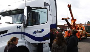 Kids touring SLA Truck
