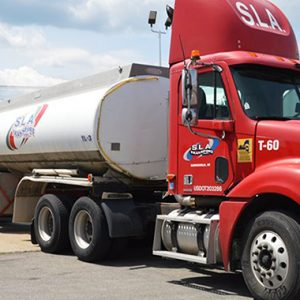 SLA Water Delivery Truck on its way to fill a pool with water